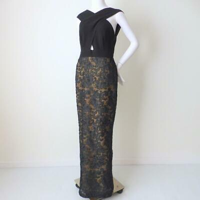 AU595 • Buy CARLA ZAMPATTI  Sleeveless  Maxi Dress Black Evening Gown Size 8 - 10 US 4 - 6