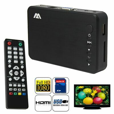 AU44.99 • Buy Full HD 1080P Media Player TV Box USB HDMI HDD AV SD MKV AVI VGA HDD MOV MPEG AU