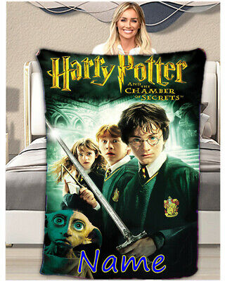 Harry Potter Personalised Throw Blanket Warm Soft Bed Sofa Fleece Kids Bday Gift • 33.99£