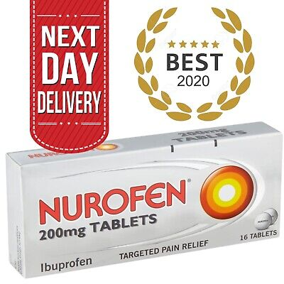 Nurafen Fast Pain Relief Tablets | Anti-inflammatory Capsules - 200mg 16 X Caps • 4.49£