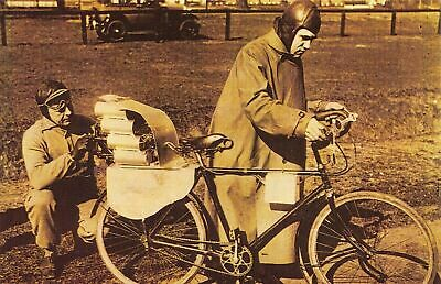 £1.99 • Buy Nostalgia Postcard March 1931 First Rocket Driven Bicycle Explodes NS1