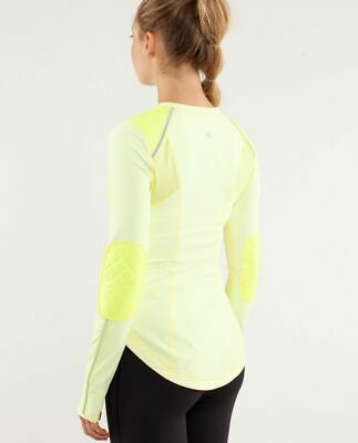 $ CDN39 • Buy Lululemon Ice Queen Pullover Clarity Yellow Rulu Reflective Running Top Size 8