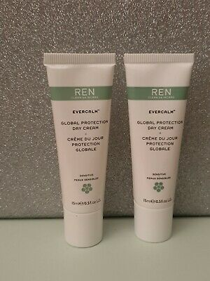 REN Duo Global Protection Day Cream 15ml X 2 New &  Sealed • 8.50£