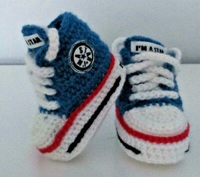 Baby Crochet Knitting Hand Shoes Trainers Sneakers Clothes Socks Hats Caps Boots • 4.89£