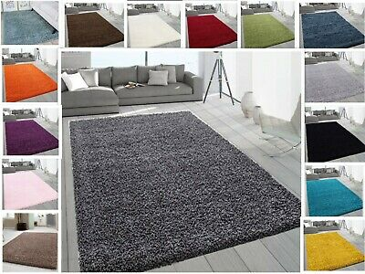 Small X Large Thick Soft Modern Rugs Non Shed Shaggy Rug Round Runner Thick Pile • 56.99£