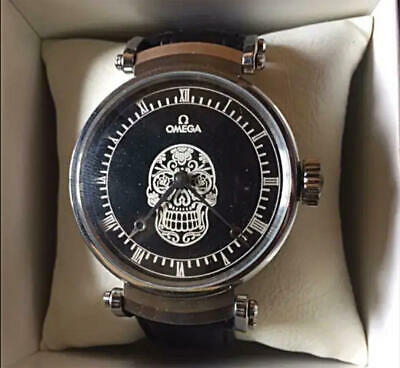 Omega Mexican Skull Men's Watch 1920's Black Dial Antique With Special Box • 735.86£
