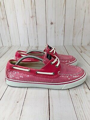 $19.95 • Buy Sperry Top-Sider Pink Sequin Womens 8.5 Boat Shoes