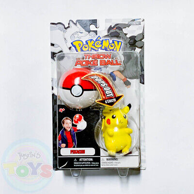 Pokemon Pop Action Poke Ball Pikachu Plush Soft Doll Throw • 14.46£
