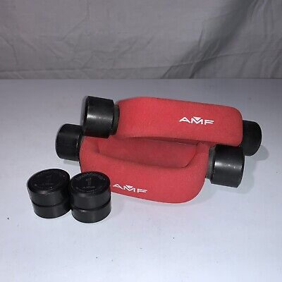 $ CDN71.91 • Buy AMF Heavy Hands 2 Lb Dumbbells Walking Weights 4 Lbs Total W/ Four Extra 1 LB