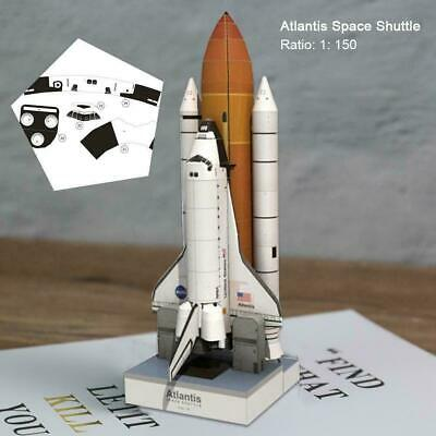 1:150 Scale 34cm Space Shuttle Atlantis 3D Puzzle Paper Rocket DIY Model • 7.15£