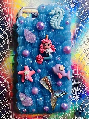 Decoden Whipped Cream Kawaii Mermaid Glitter Cabochon Phone Case For IPhone 7 • 13.99£