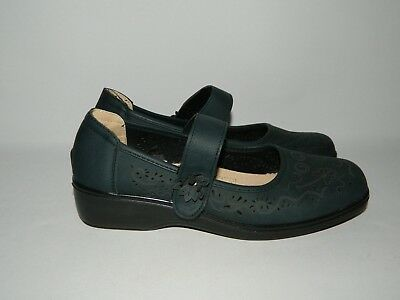Ladies Comfort By Honour Millburn Navy Mary Janes Size UK 8 Wider Fit Shoes NWOB • 13£