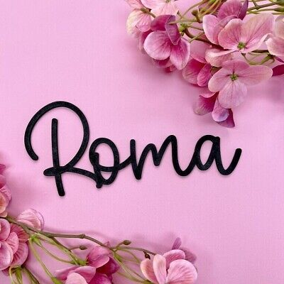 £8.99 • Buy Name Personalised Wall Door Sign Wood Laser Cut Mdf Craft Blank Calligraphy Text