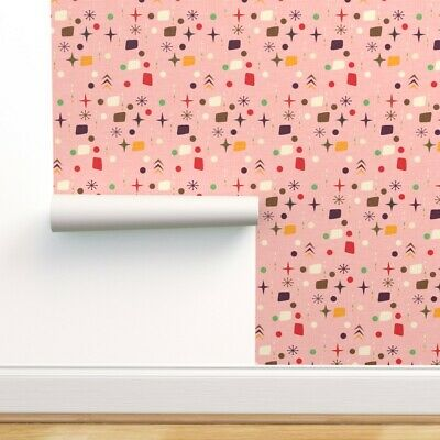 Wallpaper Roll 50S 60S Abstract Pattern Geometric Pattern Mid 24in X 27ft • 159.43£