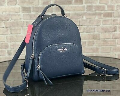 $ CDN140.34 • Buy KATE SPADE NEW YORK JACKSON MD PEBBLED LEATHER BACKPACK SHOULDER BAG $359 Navy