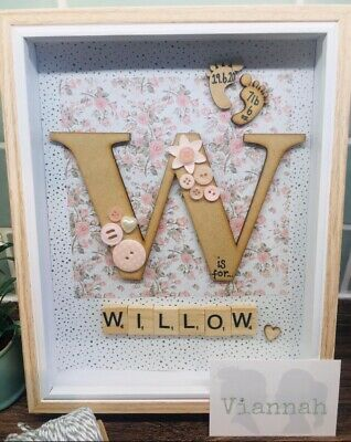 Personalised Scrabble Picture Frame/Family/Engagement/New Baby/Home Gift/ • 20£