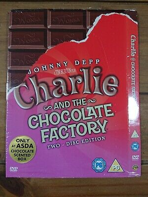 DVD Charlie And The Chocolate Factory Asda Exclusive Slipcase Card Cover • 3.50£