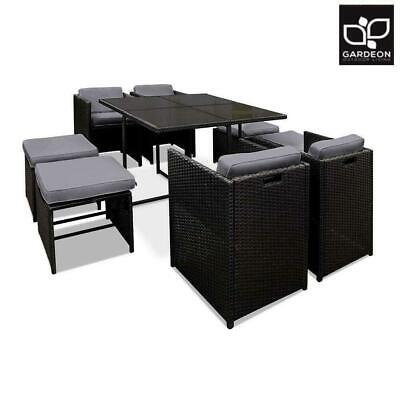 AU569.50 • Buy Gardeon Outdoor Dining Set Patio Furniture Wicker Chairs And Table Garden 9PCS