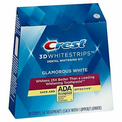 AU19.95 • Buy Crest 3D Glamorous White Strips Advanced Teeth Whitening Dental Treatment Kit