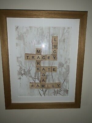 Personalised Scrabble Letter Box Frame Picture • 19.99£