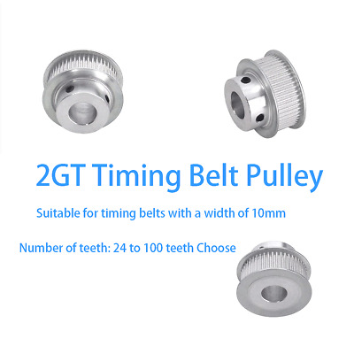 AU4.75 • Buy GT2 10mm Timing Belt Pulley 24 Tooth - 100 Tooth BF-type For CNC / Step Motor