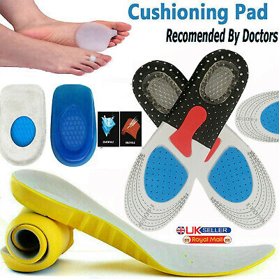 Unisex Orthopaedic Memory Foam Shoe Pads Trainer Soft Foot Feet Comfort Insoles • 3.19£