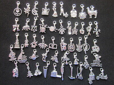 Clip On Charms -Tibetan Silver - Bracelets - Handbags - Zip Pulls  • 1.95£