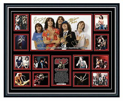 AU99.99 • Buy Acdc Bon Scott Angus Young Signed Poster Limited Edition Framed Memorabilia
