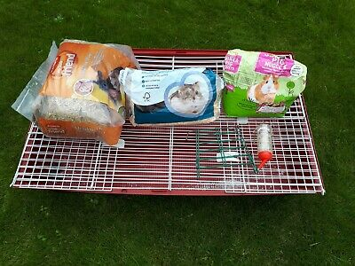 Pet Cage + Extras Ferplast Small Animal, Rabbit, Guinea Pig, Rodent, Mouse, Rat  • 15£
