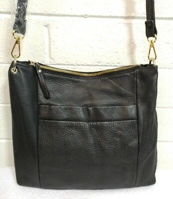 $ CDN67.01 • Buy Kate Spade Black Pebbled Leather Crossbody Bag Handbag