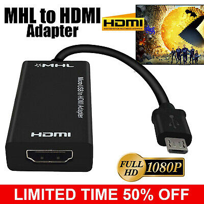 AU14.24 • Buy  5/11 Pin MHL Micro USB To HDMI Female Adapter Cable 1080P HDTV Video Converter