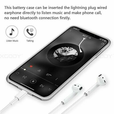 AU34.88 • Buy Ultra-Thin Charger Battery Case For IPhone X Xs Battery Charging Power Bank Case