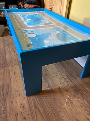 Kids Wooden Table For Playing With Train Tracks Or Lego • 10£