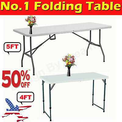 £40.60 • Buy  4FT-6FT Heavy Duty Folding Table Portable Plastic Camping Garden Party Trestle