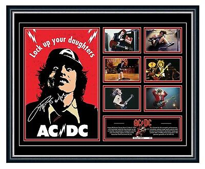 AU99.99 • Buy Angus Young Acdc Signed Poster Limited Edition Framed Memorabilia