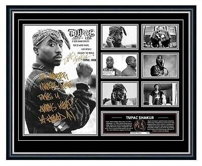 AU99.99 • Buy Tupac Shakur 2pac All Eyez On Me Signed Limited Edition Framed Memorabilia