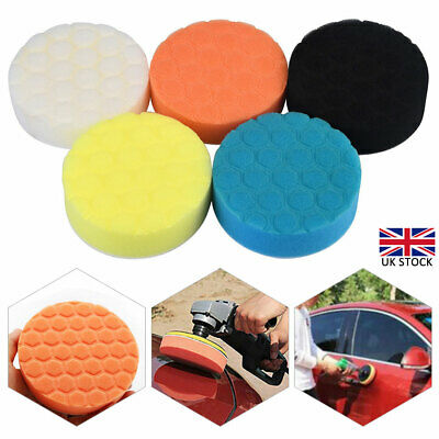 5pcs 6  Buffing Waxing Polishing Sponge Pads Kit Set For Car Polisher Drill UK • 7.84£