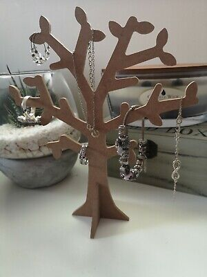 Wooden Jewellery Stand Tree Display Organiser Earring Necklace Holder Craft Cut • 8.99£