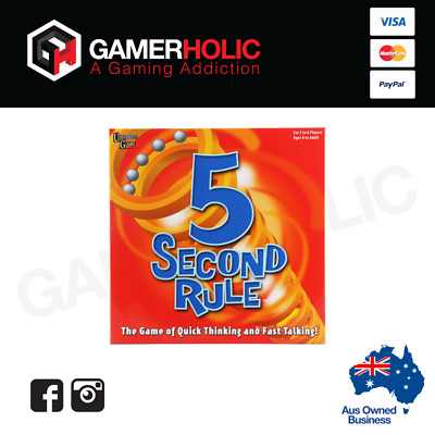 AU29.99 • Buy 5 Second Rule Board Game Fast-Paced Family Game By University Games Brand New
