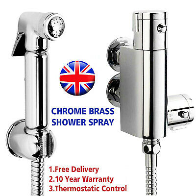 Thermostatic Mixer Bidets Toilet Valve Hand Held Douche Kit Muslim Spray Shower • 45.09£