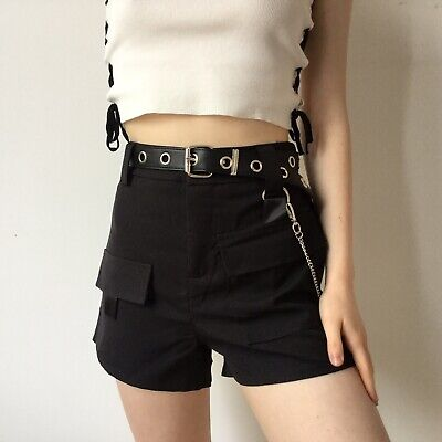 D-Ring Cargo Shorts S 8-10 Highwaisted Tripp NYC Comfy Safari Diesel Y2k 00s • 14£