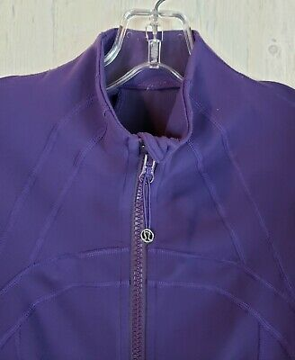 $ CDN95 • Buy Lululemon Define Jacket Concord Grape Purple Size 6 Zip Up Forme Sweater EUC