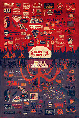 AU12.72 • Buy Stranger Things - The Upside Down Maxi Poster