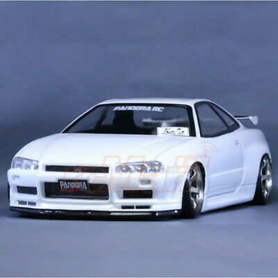 Pandora RC 1/10 Scale Nissan Skyline R34 GTR Vspec 2 RC Clear Bodyshell - 195mm • 60£