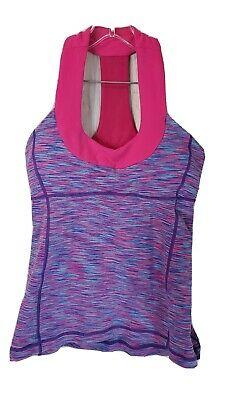 $ CDN36 • Buy Lululemon Scoop Neck Bra Tank Size 6 Pink Wee Are From Space
