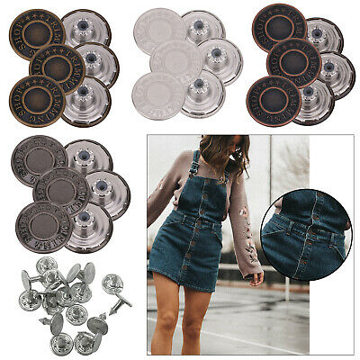 Jean Studs Buttons 10pcs - 100pcs 17mm Button And Back Stud With Pins - New • 2.55£