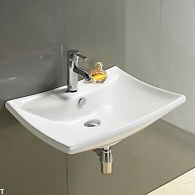 Bathroom Basin Sink Countertop Wall Hung Mounted Cloakroom Vessel Bowl 042W • 39.99£