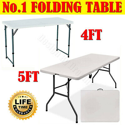 6ft Heavy Duty Folding Table Portable Plastic Camping Garden Party Catering New • 11.30£