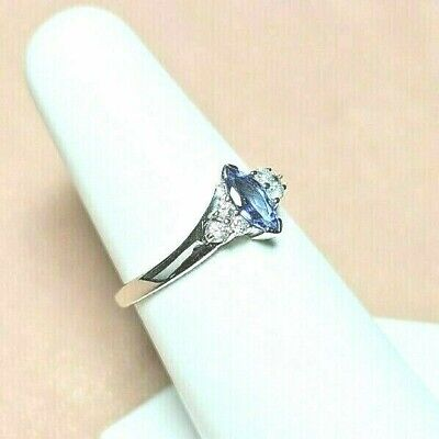 £142.13 • Buy 14k Tanzanite Ring W DIAMONDS GENUINE And NATURAL SOLID GOLD ~SIGNED~ Sz  7.25