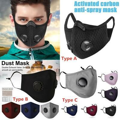 $ CDN11.39 • Buy Washable Reusable PM2.5 Face Mask Carbon Activated W/ Respirator Face Filter Lot